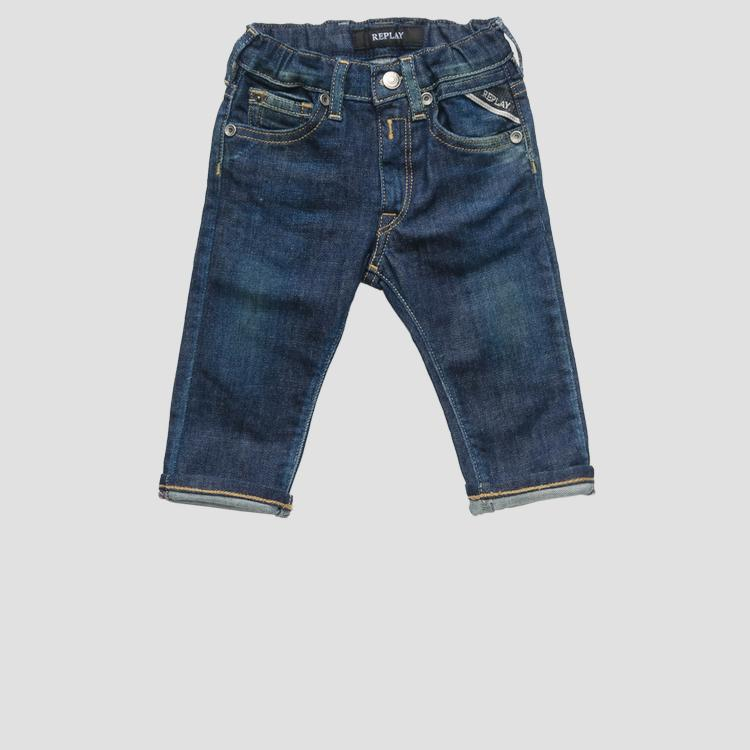 Jeans with elasticated waistband- REPLAY&SONS