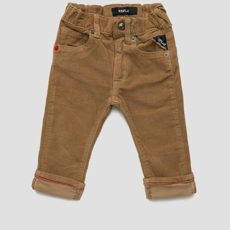 Corduroy garment-dyed trousers- REPLAY&SONS