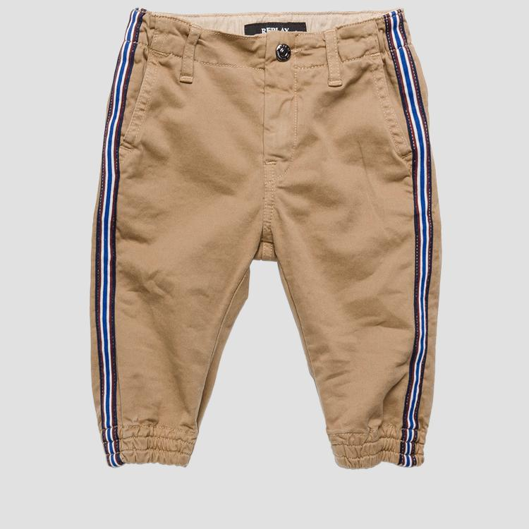 Jogger cotton pants with side stripes- REPLAY&SONS