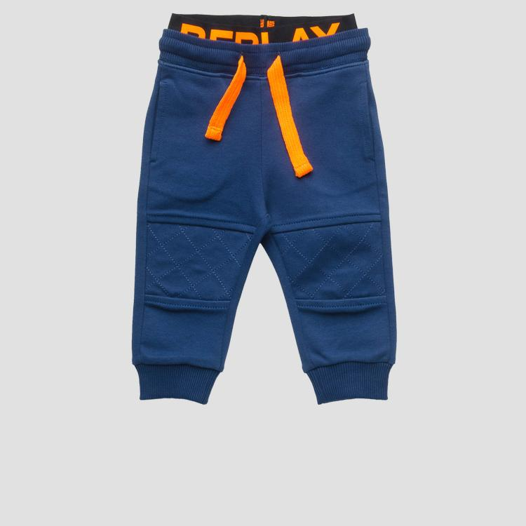 Fleece trousers with drawstring- REPLAY&SONS