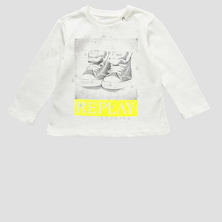 Long-sleeved t-shirt with embroideries pg7091.067.22784
