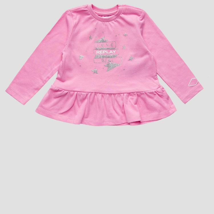 REPLAY t-shirt with glitter print pg7143.050.22784