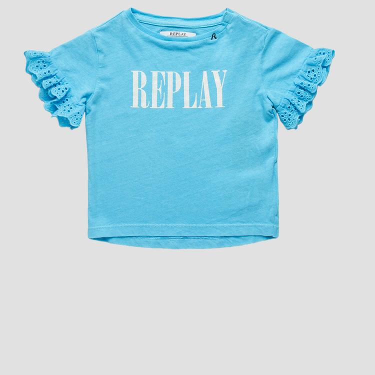 T-shirt with openwork detail- REPLAY&SONS