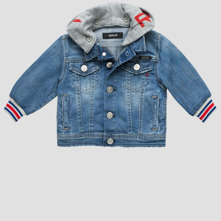 Denim jacket with hood- REPLAY&SONS