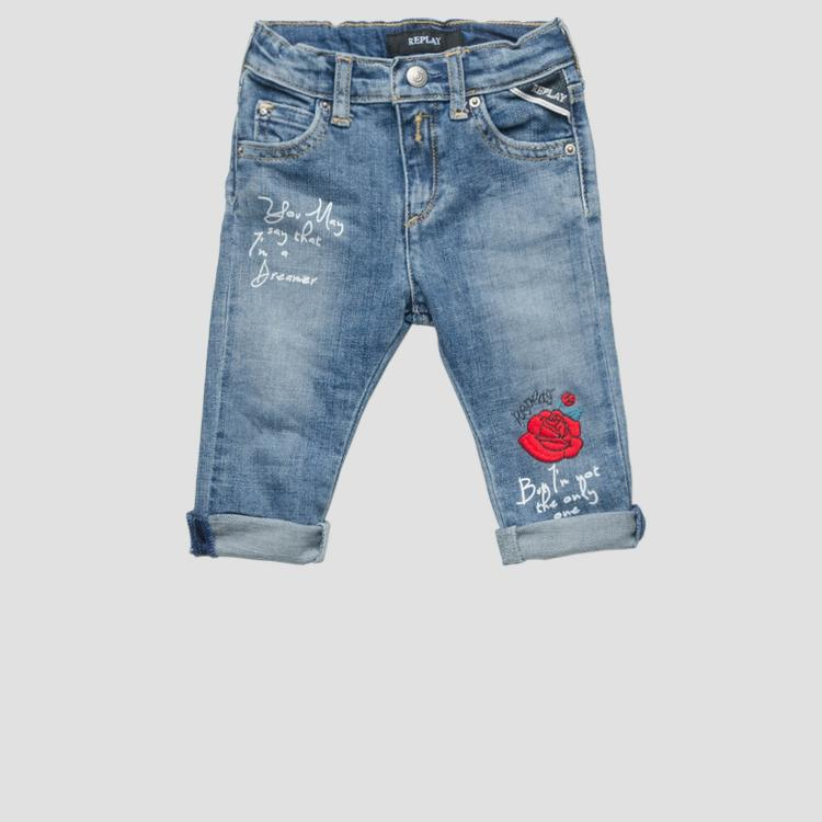 Jeans with embroideries- REPLAY&SONS