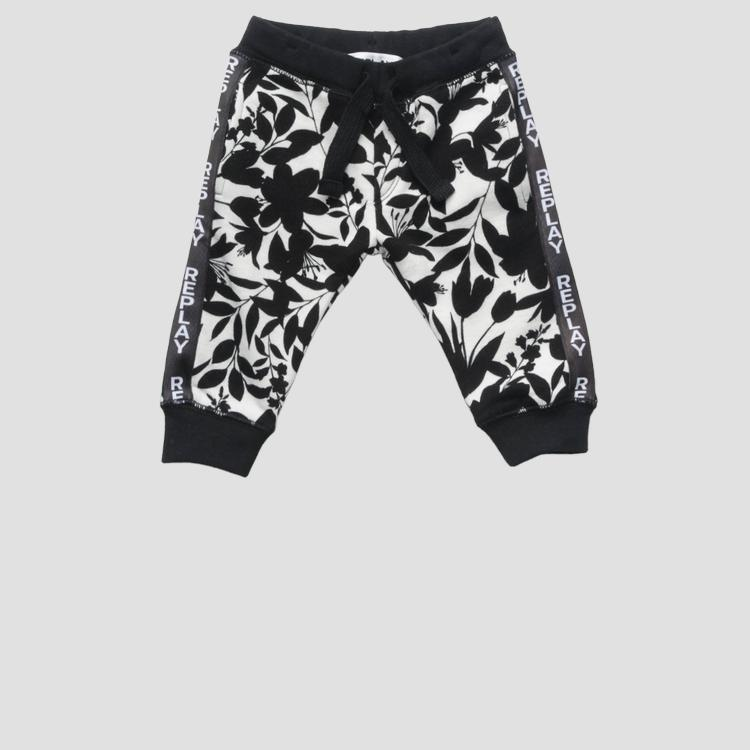 Trousers with floral pattern- REPLAY&SONS