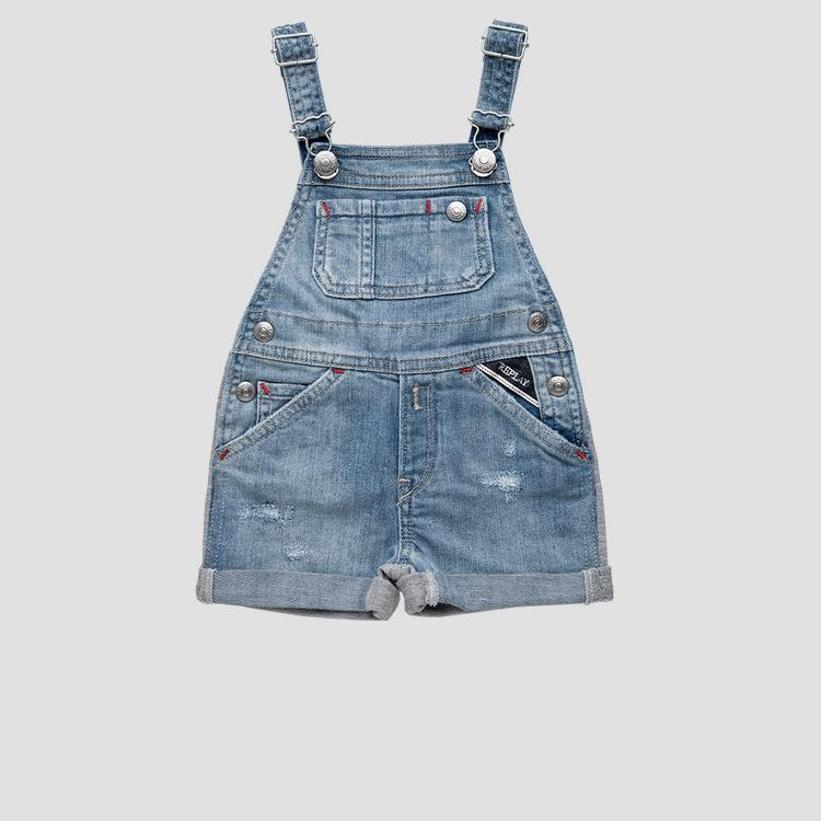 REPLAY overalls in denim and fleece pg9707.051.1025003