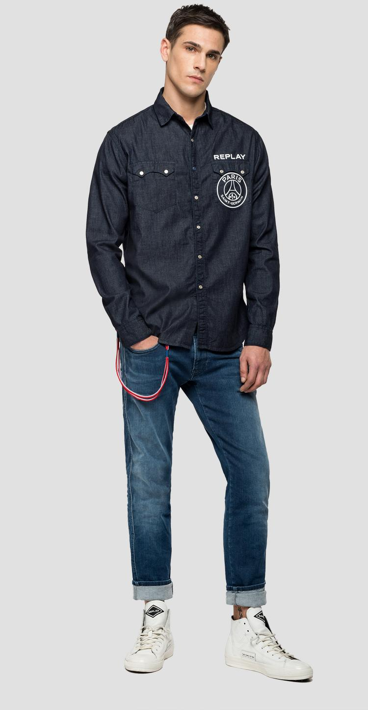 Replay PSG rinse denim shirt psg422.000.168 g07