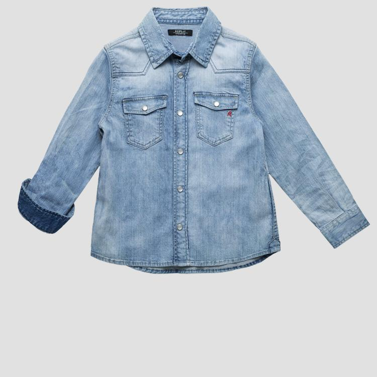 Denim shirt with snaps sb1070.053.15a