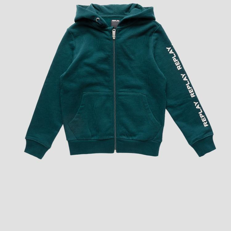 Hoodie with zipper- REPLAY&SONS