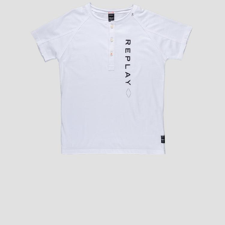 Regular fit t-shirt with buttons- REPLAY&SONS