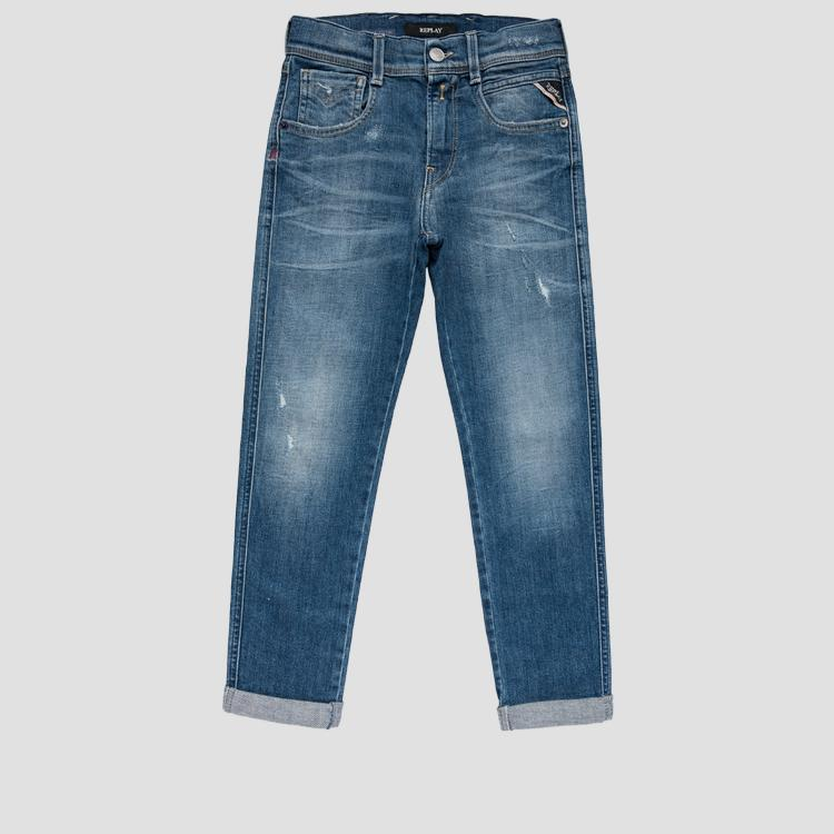 Skinny fit low crotch 573 BIO Brae jeans- REPLAY&SONS
