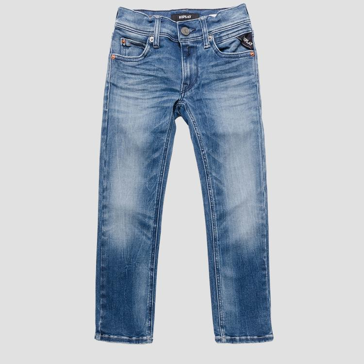 Hyperflex™ super slim stone wash jeans- REPLAY&SONS