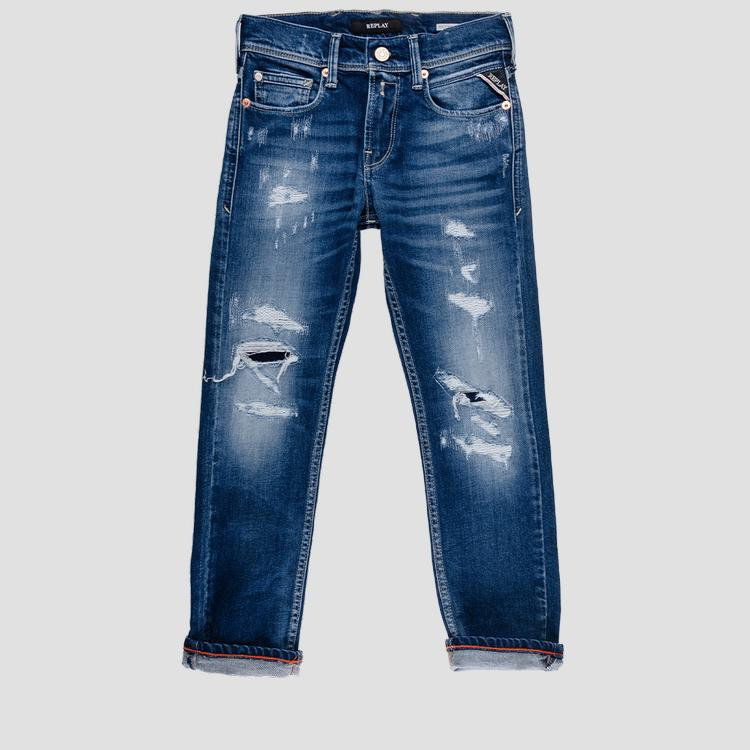 Regular fit jeans with breakages sb9328.071.51c 465