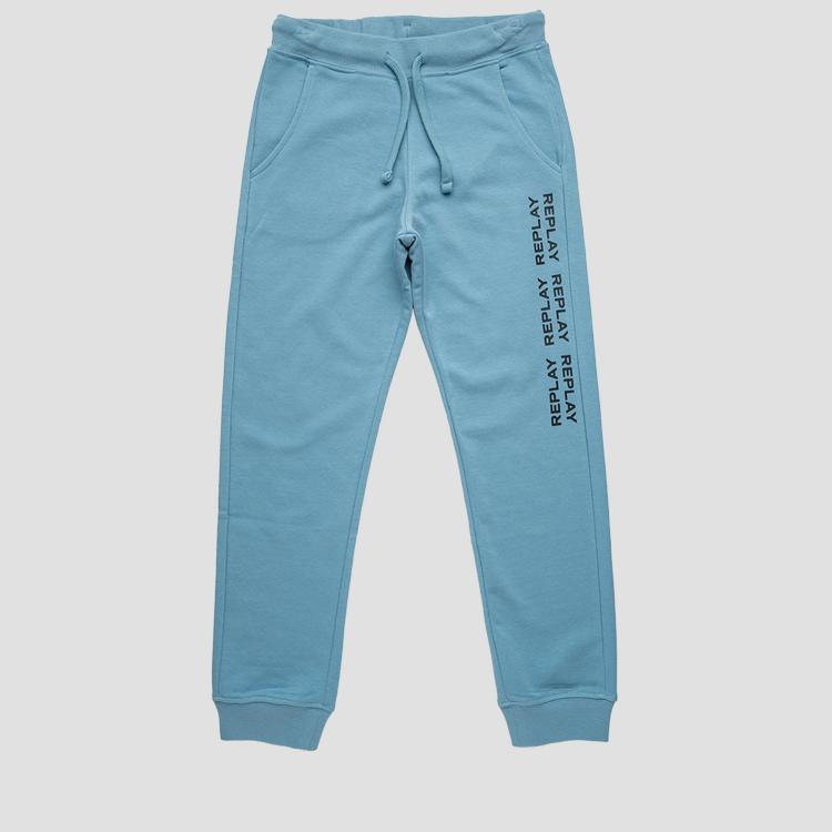Slim fit REPLAY fleece trousers- REPLAY&SONS