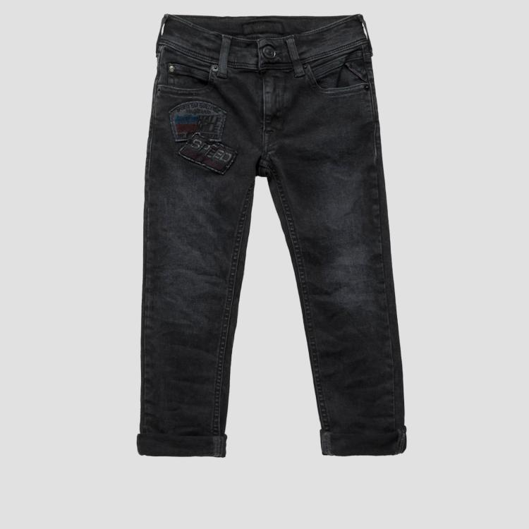 Slim fit jeans with patch- REPLAY&SONS