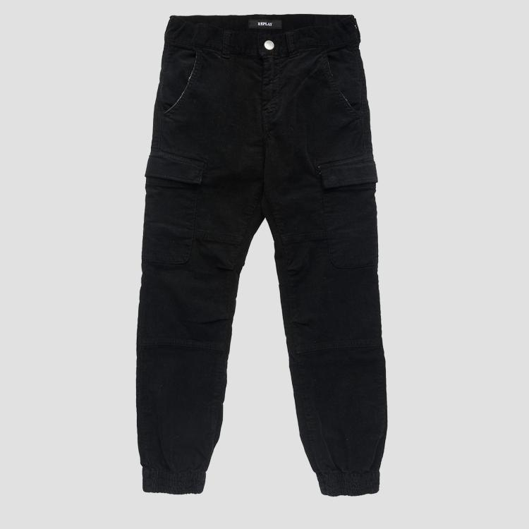 Multi-pocket cargo trousers- REPLAY&SONS