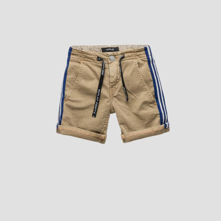 Shorts with striped band- REPLAY&SONS