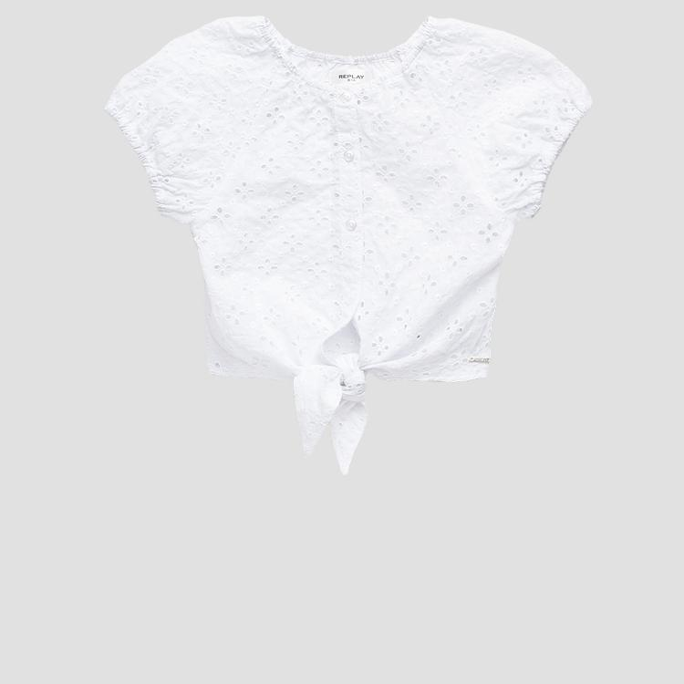 Broderie anglaise REPLAY shirt sg1533.050.84116