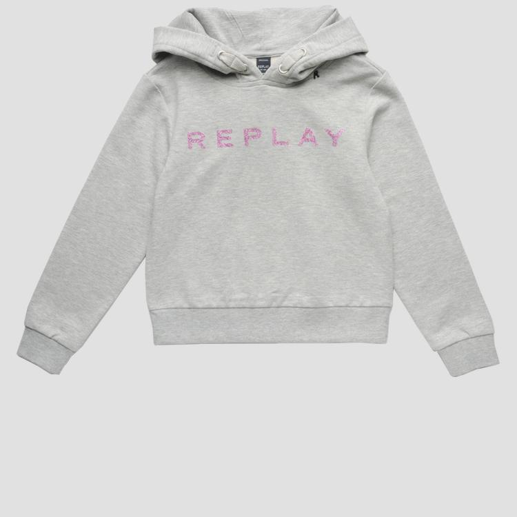 Hoodie with glitter print- REPLAY&SONS