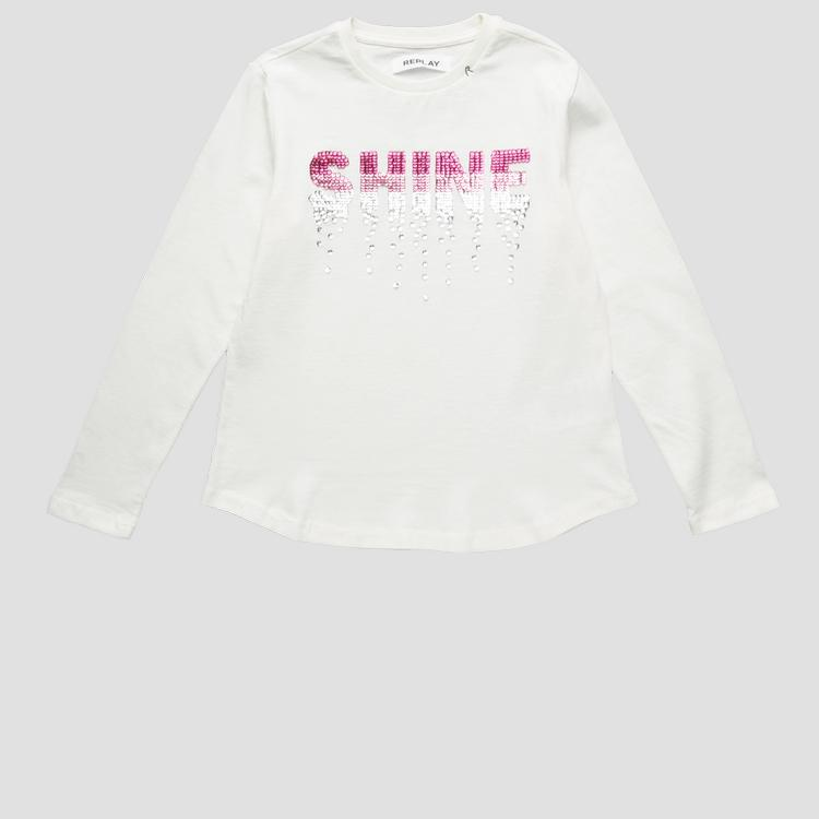 SHINE t-shirt with sequins- REPLAY&SONS