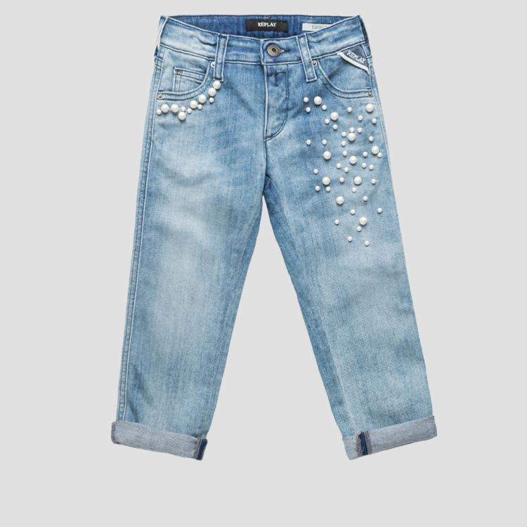 Carrot fit jeans with beads sg9279.055.115 482