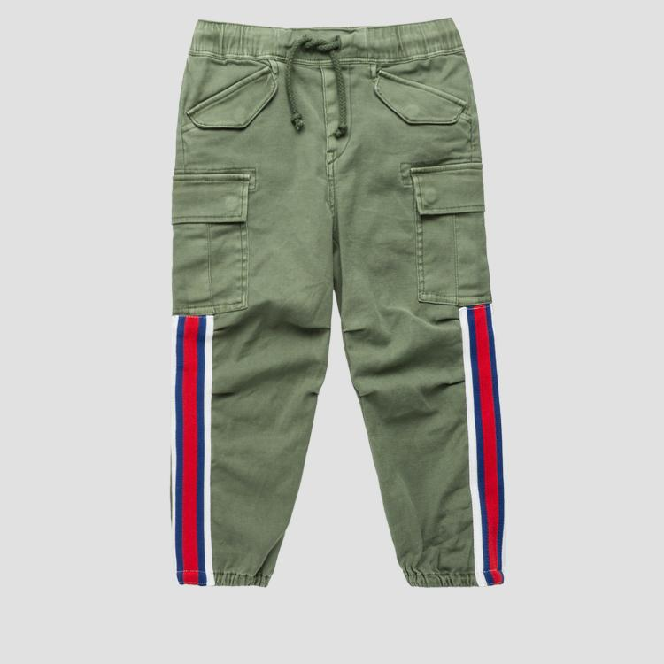 Cargo pants with contrasting ribbon sg9316.050.80655