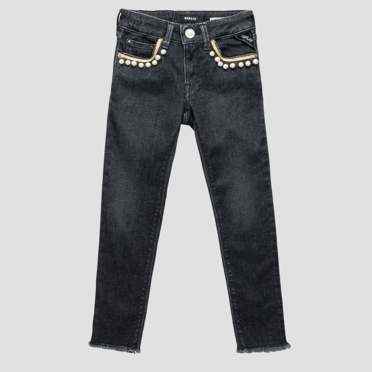 Skinny fit jeans with appliques sg9318.050.75c 425