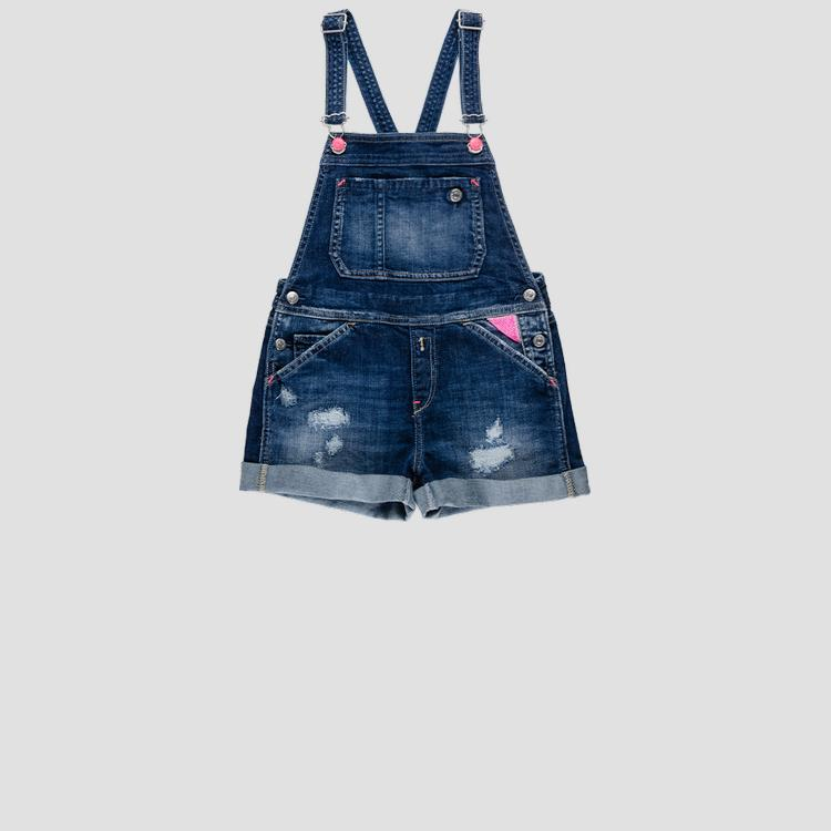 Denim overalls with tears sg9706.051.115 431