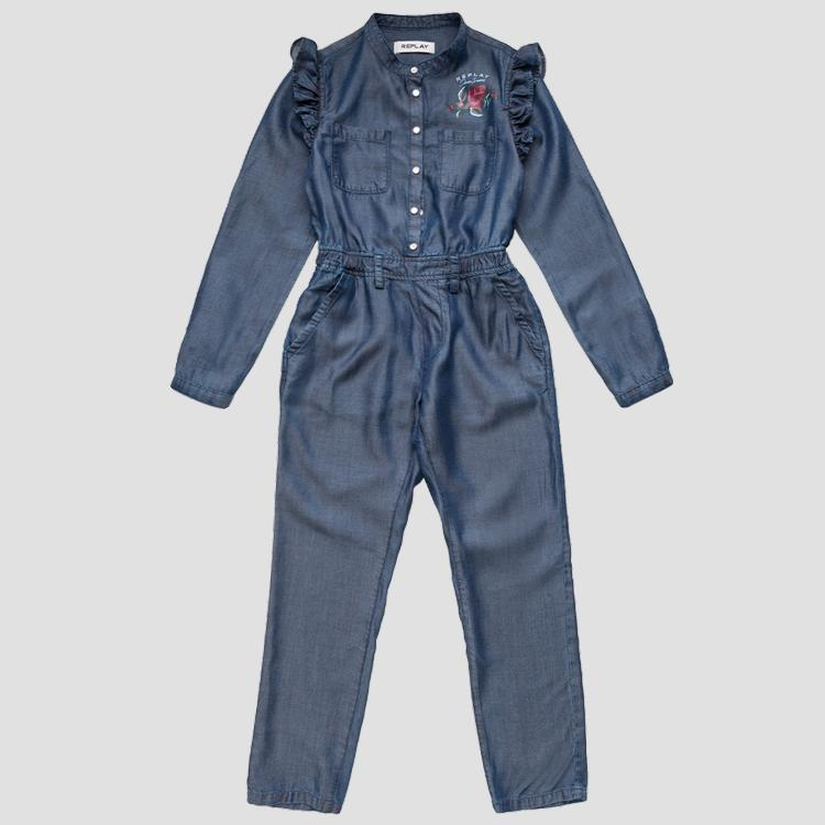 ROSE LABEL Lyocell overall with ruffles sg9914.050.50103