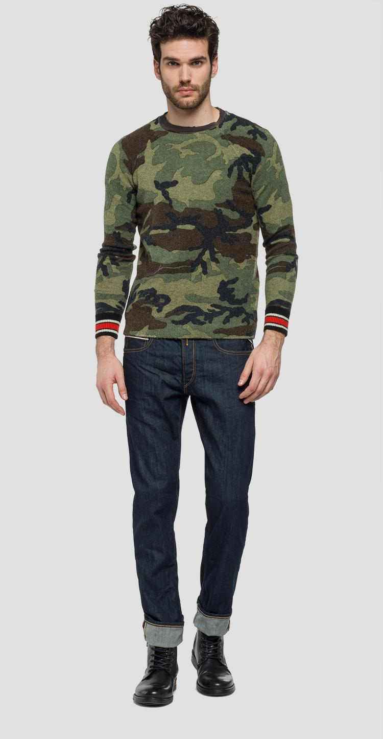 Pull Pull Pull Camouflage En Camouflage Replay En Laine Replay Laine ARjqL354