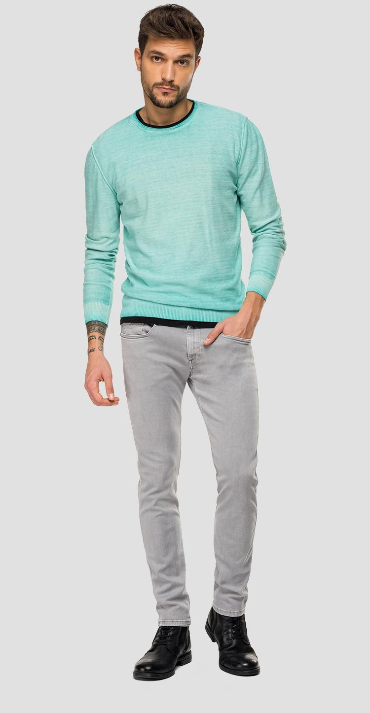 Crewneck sweater with faded effect uk2656.000.g20784a