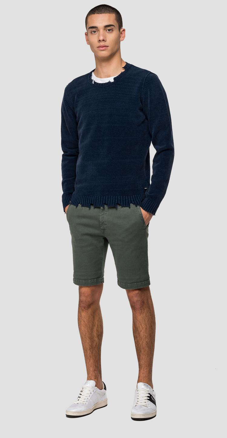 Used effect sweater with cuts - Replay
