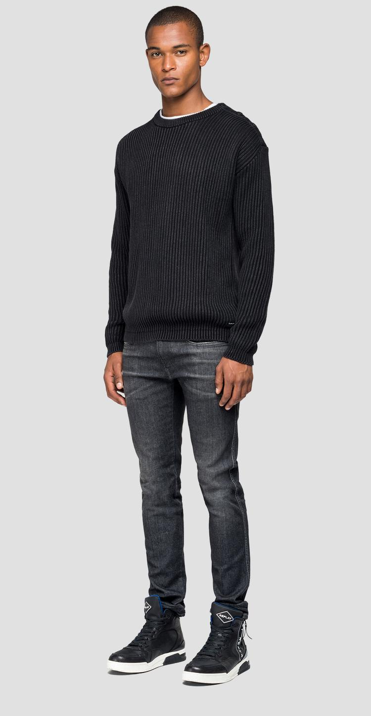 Ribbed crewneck sweater - Replay