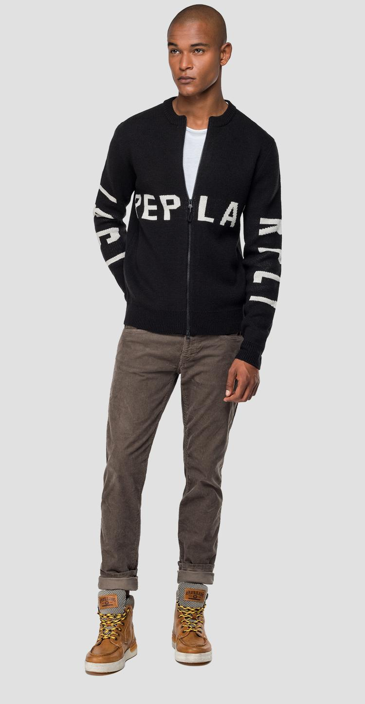 Zipped REPLAY 1981 sweater uk3071.000.g2897j