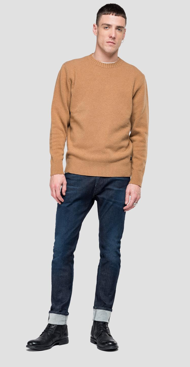 Jersey con cuello redondo recycled cashmere - Replay