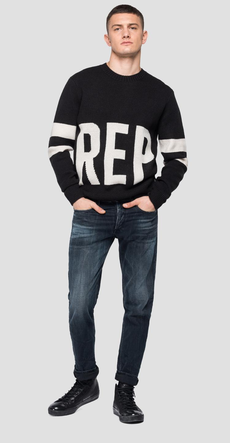 Oversized REPLAY pullover uk8017.000.g2897j