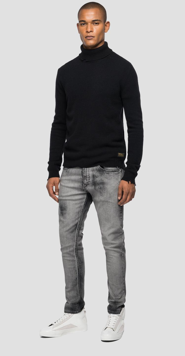 Turtleneck wool and viscose pullover Aged 10 years uk8303.000.g22726