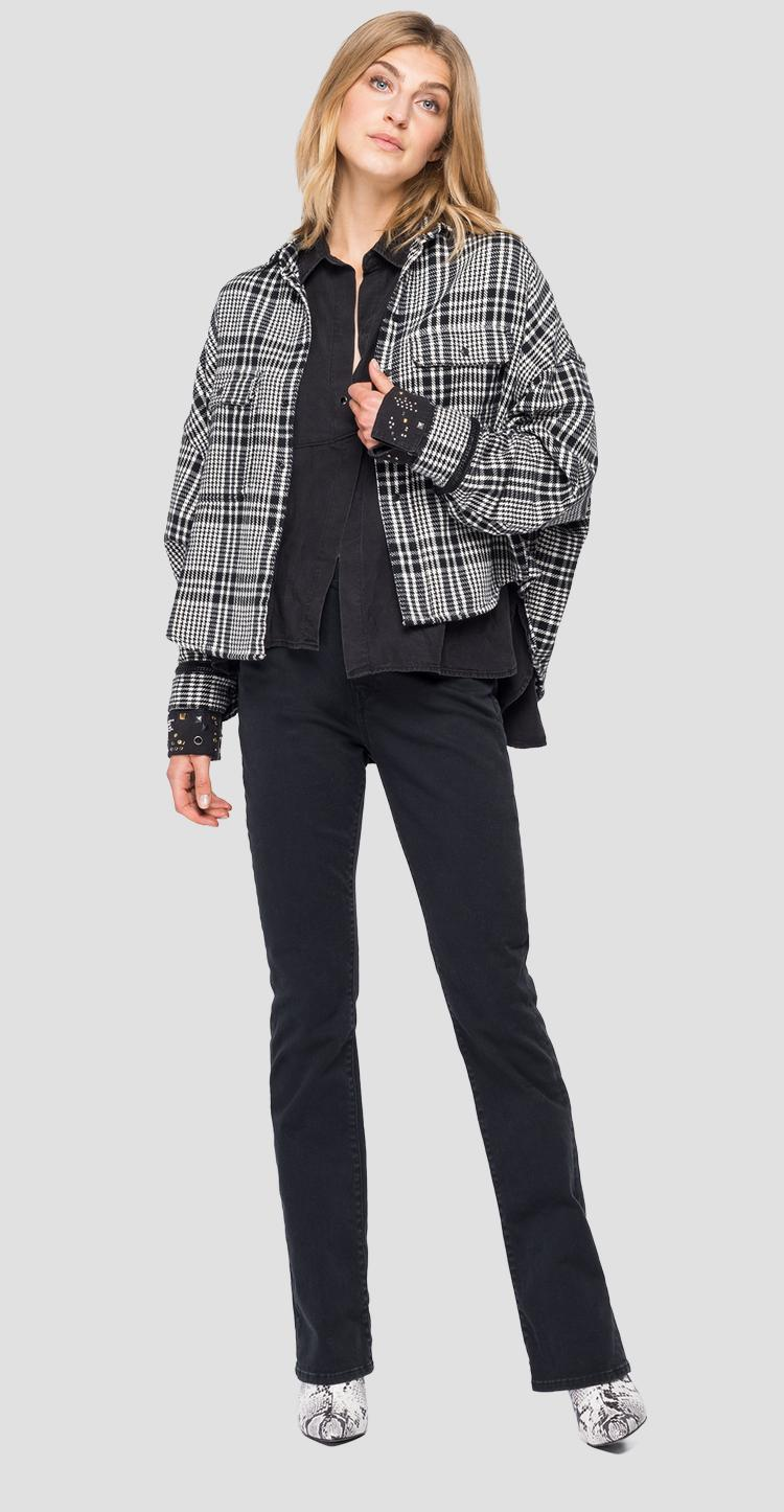 Cotton shirt with houndstooth - Replay