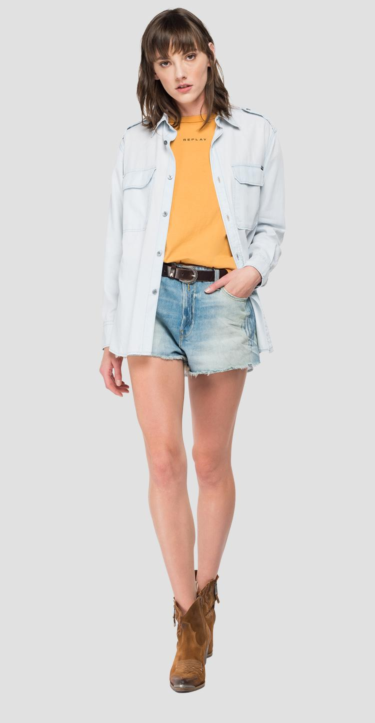 Denim shirt with pockets w2010 .000.54e 87c