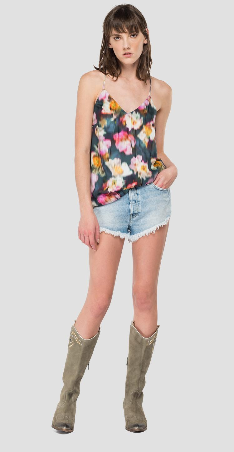 Cami top with all-over floral print w2057 .000.73364
