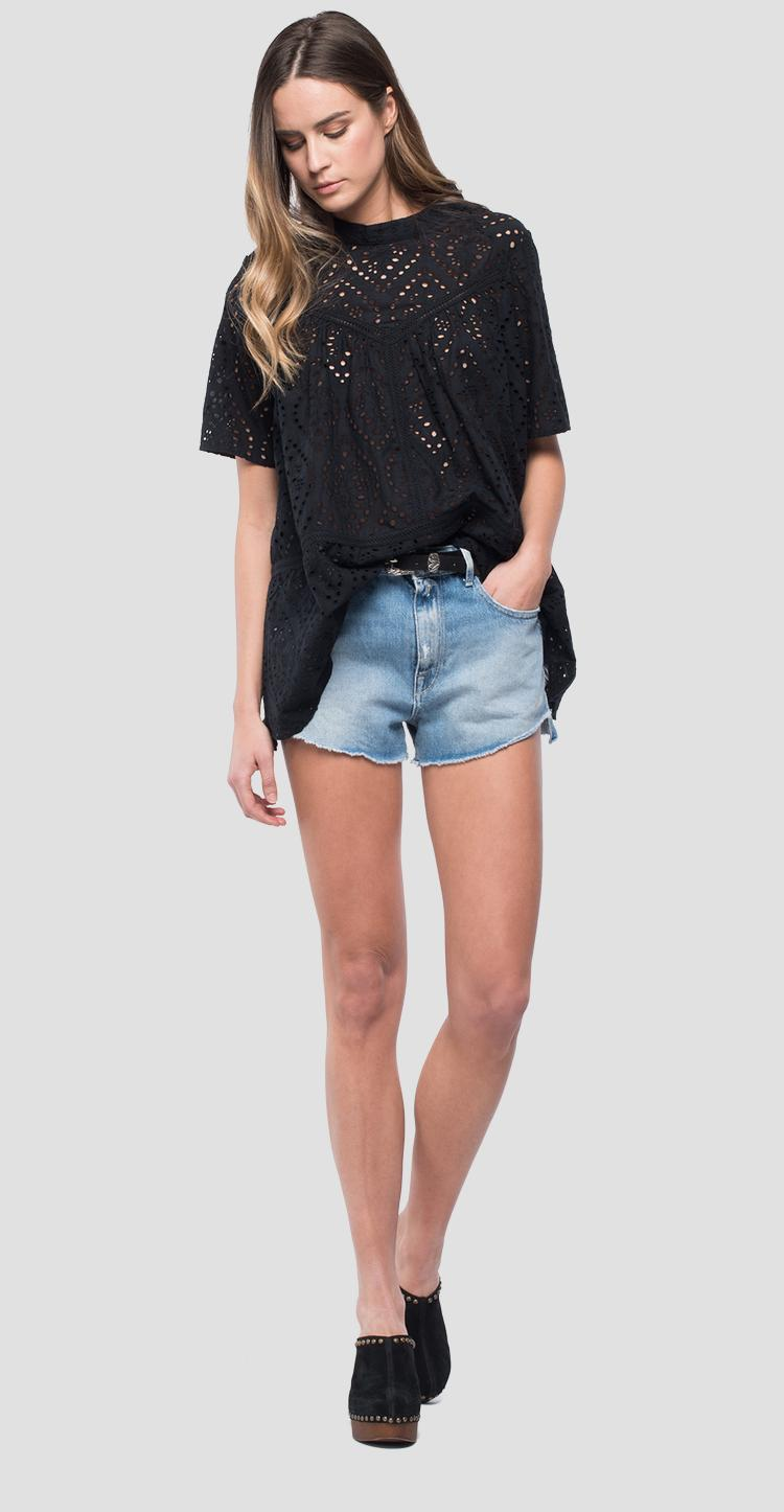 Blouse in broderie anglaise w2226 .000.83336