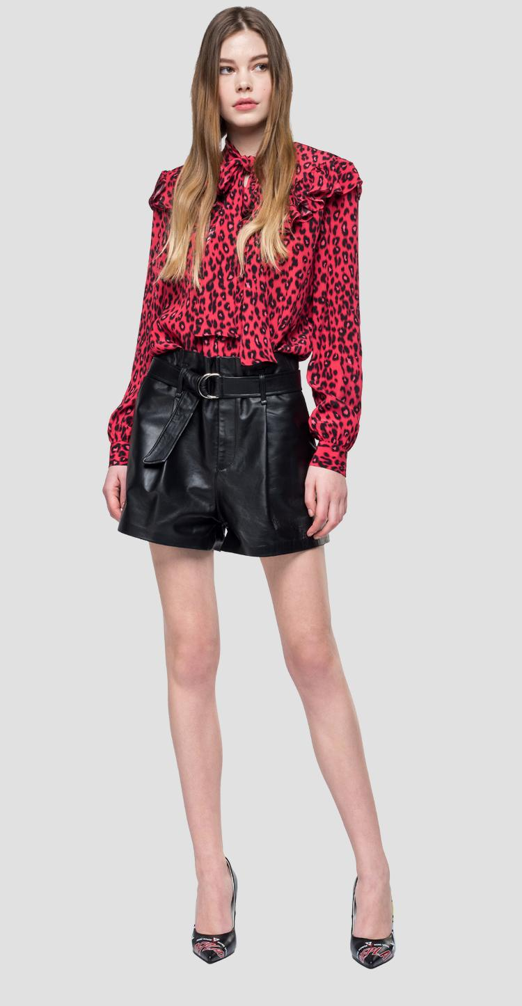 Blouse with animalier print w2261a.000.71852