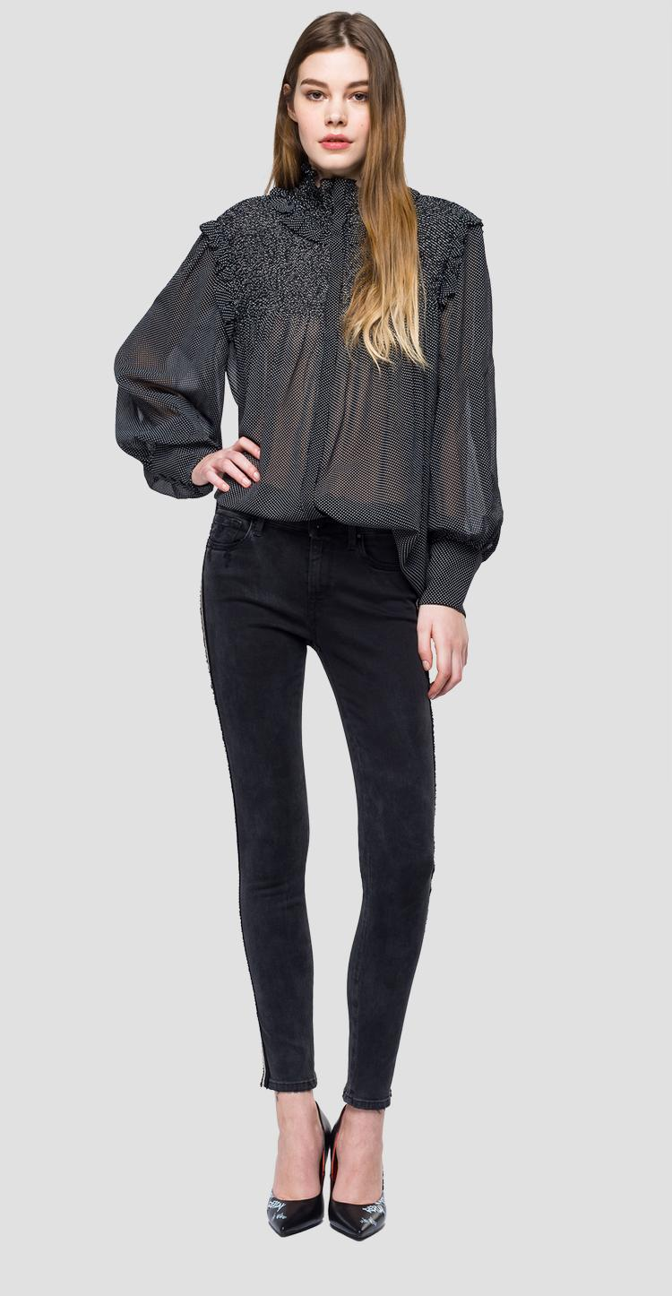Transparent patterned blouse - Replay