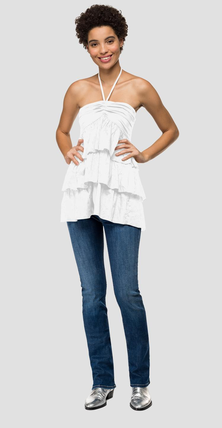Cami top with lace at the collar w2320 .000.83040