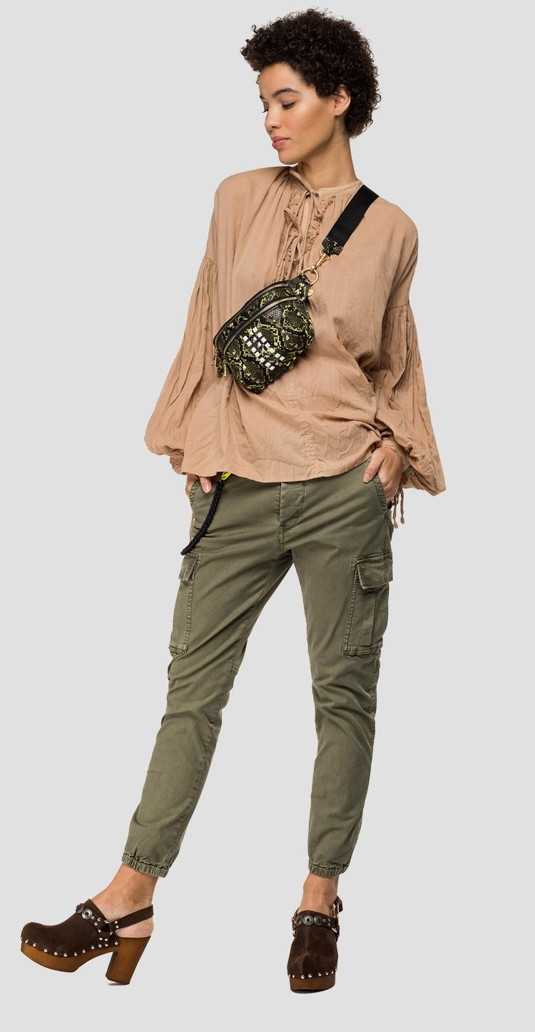Oversized balloon-sleeved blouse - Replay