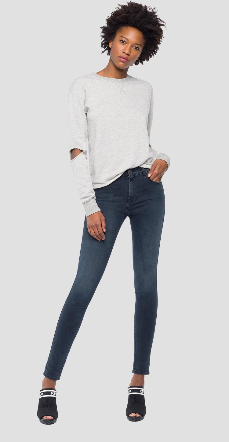 Sweatshirt with slits on the elbows w3018 .000.22670