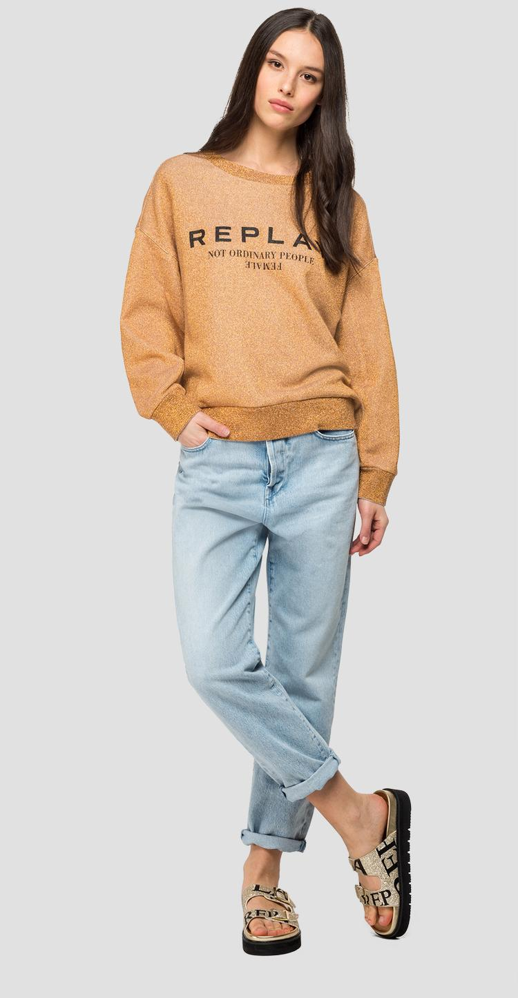 REPLAY sweatshirt with lurex - Replay