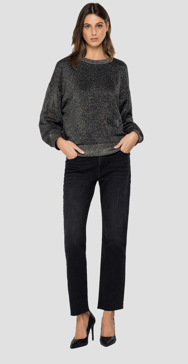 REPLAY crewneck sweatshirt with lurex w3114d.000.22672
