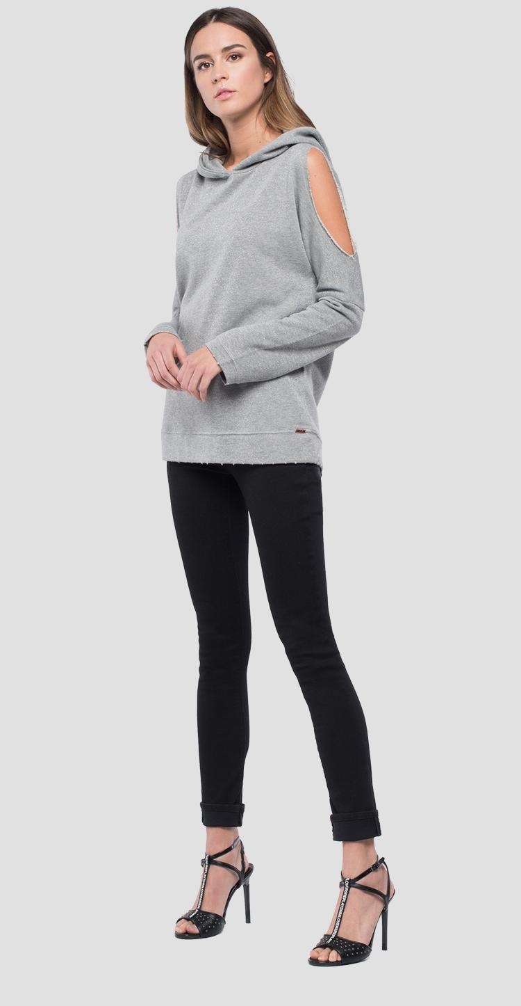Hoodie with slits w3131 .000.22674